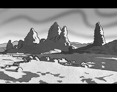 Rocky landscape - Concept sketch