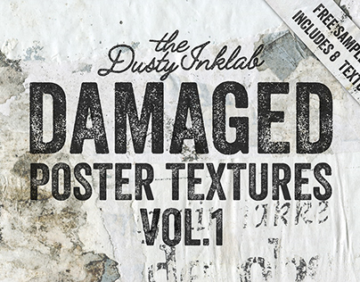 Damaged Poster Textures Vol. 1 Free Sample Pack