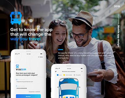 ViaSim travel application - UI/UX design
