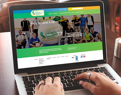 Website REMS - Rede Esporte pela Mudança Social
