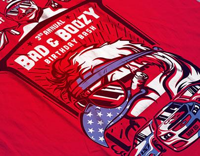 BAD & BOOZY Birthday Bash T-shirt and Snapchat Filter