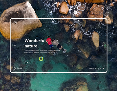 Nature Landing Page design concept-Free Download