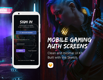 Gaming Auth & Splash Screens