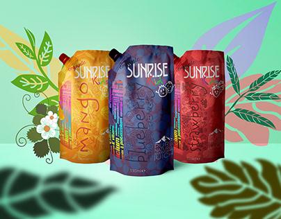 SUNRISE Fruit Juice ~ Packaging Design