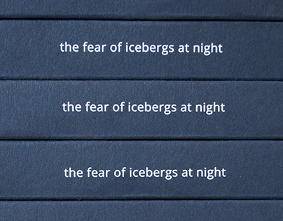 The fear of icebergs at night - Artbook