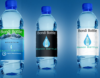 Modern Water Bottle Logo Design