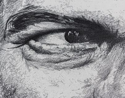 Pencil Portrait - Stretched