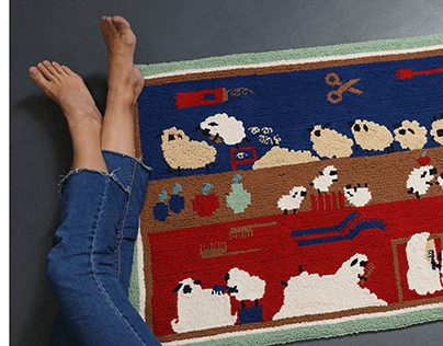 Punch needle tapestry