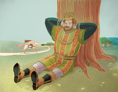 The lazy king