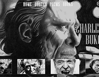 CHARLES BUKOWSKI WEBSITE DESIGN