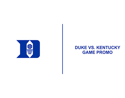 Duke vs. Kentucky Basketball Game Promo