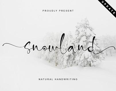 SNOWLAND | MODERN HANDWRITTEN