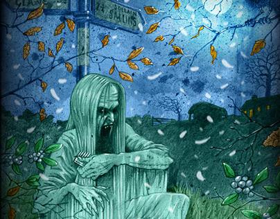 Horror art illustration: The Banshee harbinger of doom