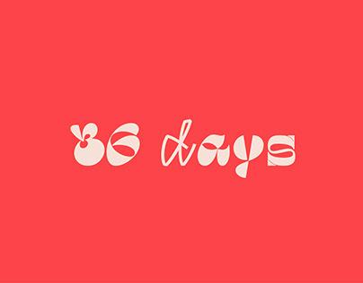 36 days of type 2020 | Type Design