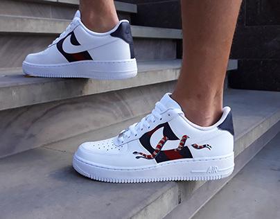 Custom Nike Air Force 1 x Gucci