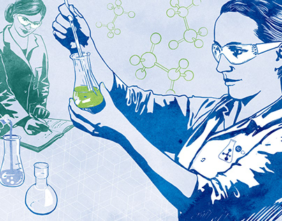 Header for a science themed newsletter