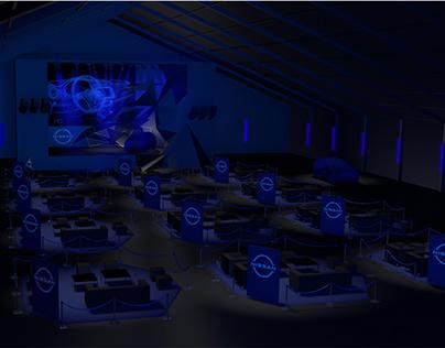 Render 3D Event Stage Nissan Lanzamiento