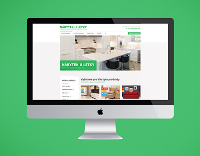Webdesign - Small furniture shop