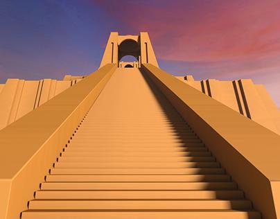 Sumerian Ziggurat - Loop Animation