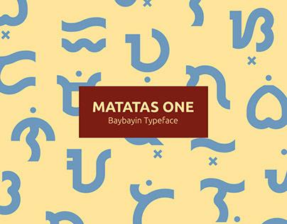 Matatas One ― A Baybayin Typeface