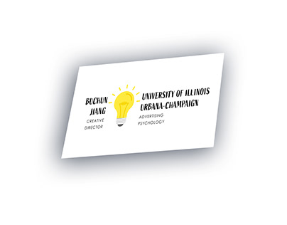 Buchun Jiang Name Card design