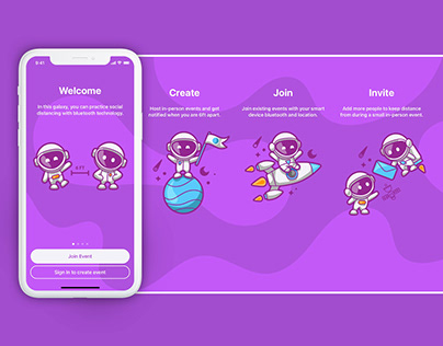 Spacelings – Social Distancing App