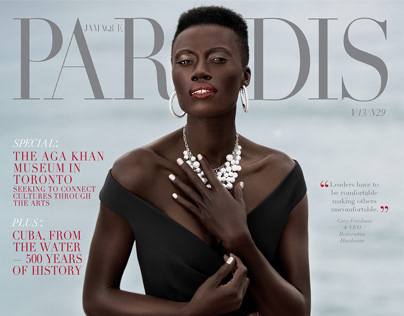 Jamaque Paradis Magazine cover and fashion editorial