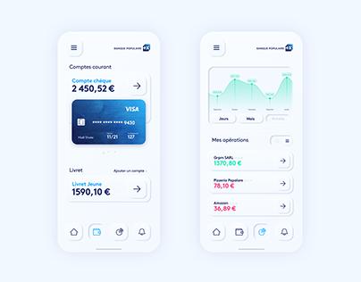 Skeuomorphic mobile banking app