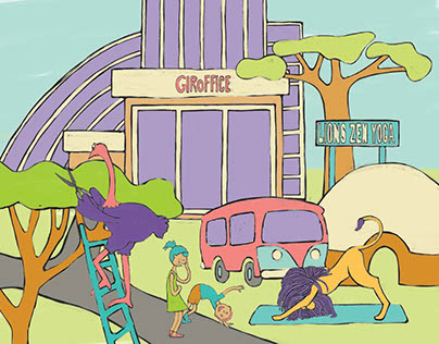 Zoo Animals Kids Story Concept