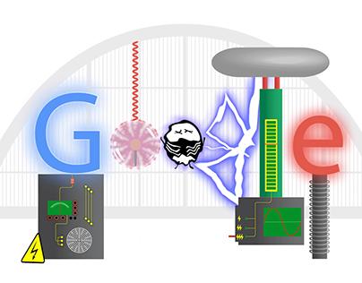Google Doodle - Nikola Tesla
