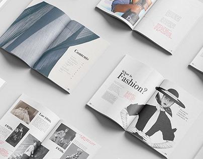 Magazine design (homework)