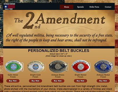 2nd Amendment Belt Buckles