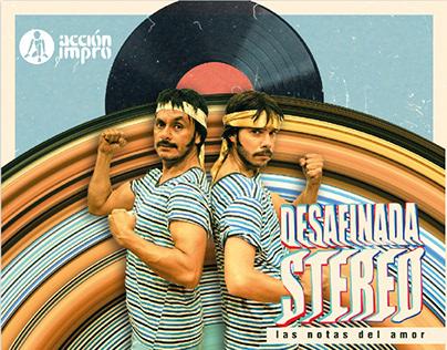 Diseño desafinada stereo Acción impro
