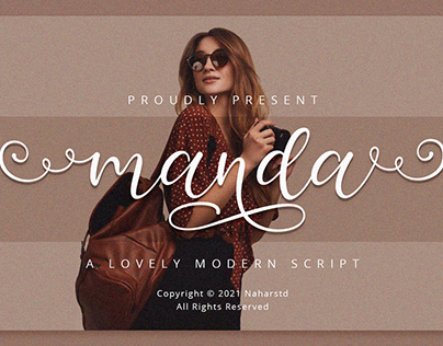 FREE | Manda - Modern Script Font