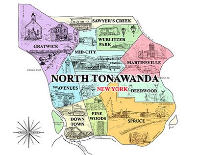 Crowd-Sourced Map of  North Tonawanda Neighborhoods