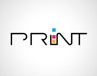 Printshop minimalistic logo logotype design лого icon