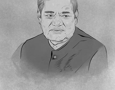 Vajpayee Portrait for Kasheer