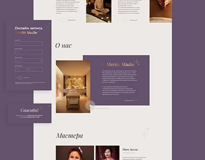 Thai Massage Studio website