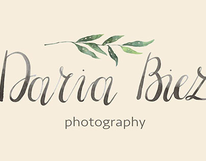 Watercolor logo |for Daria Biez Photography