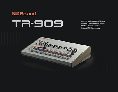 Roland TR-909 Landing + Free vector