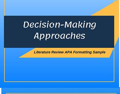 sample literature review apa 6th edition