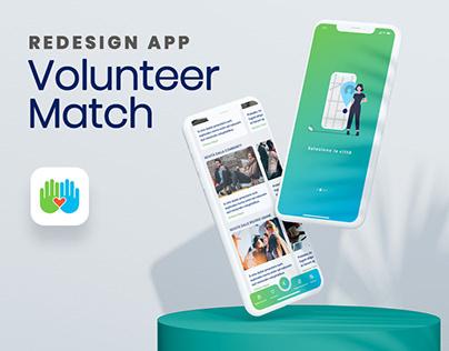 UI design for App VolunterMatch