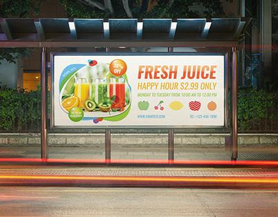 Fresh Juice Billboard Template