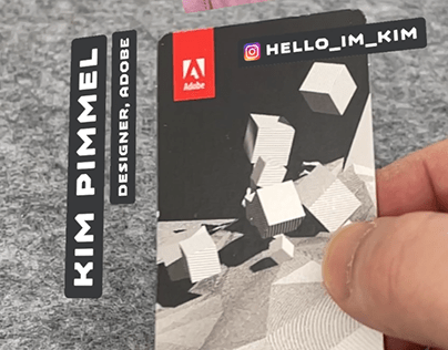 Design an AR Business Card with Adobe Aero