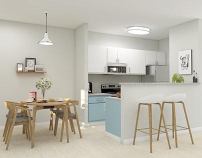 3D Modern Kitchen 3