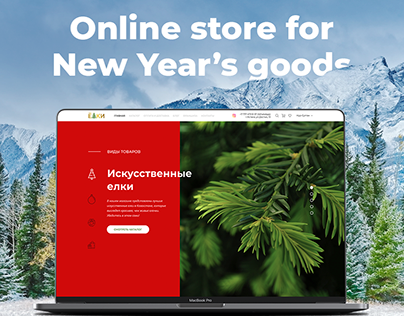 Online store for new year goods