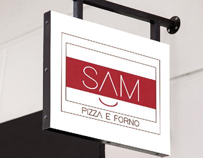 Logo e volantini Sam pizza e forno