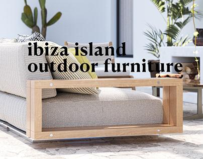 Outdoor Furniture   Photorealistic rendering   Ibiza