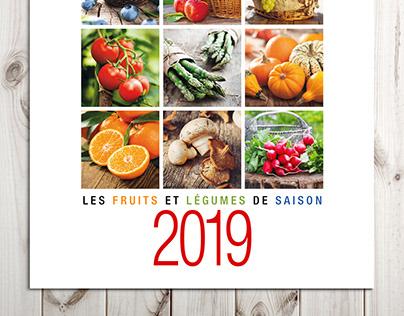 """Calendrier 2019 """"Fruits et légumes"""""""