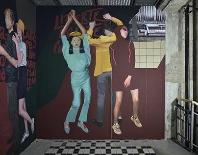 MURAL in a bar space
